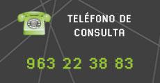 Teléfono de contacto para el servicio CDN 963 22 38 83