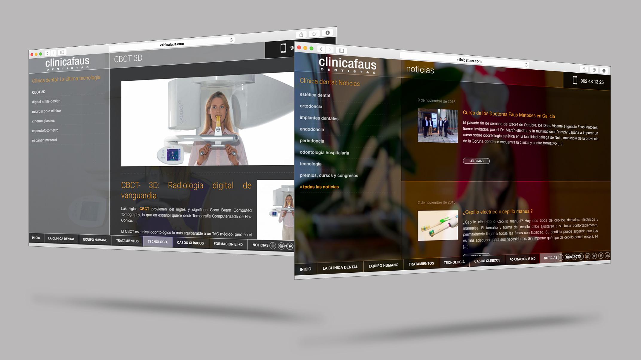 Diseño y Desarrollo Web Clínica Faus
