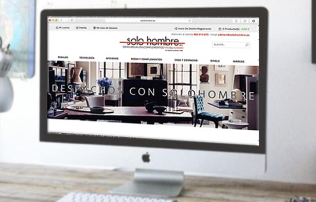 Diseño y Desarrollo Tienda Online solo hombre