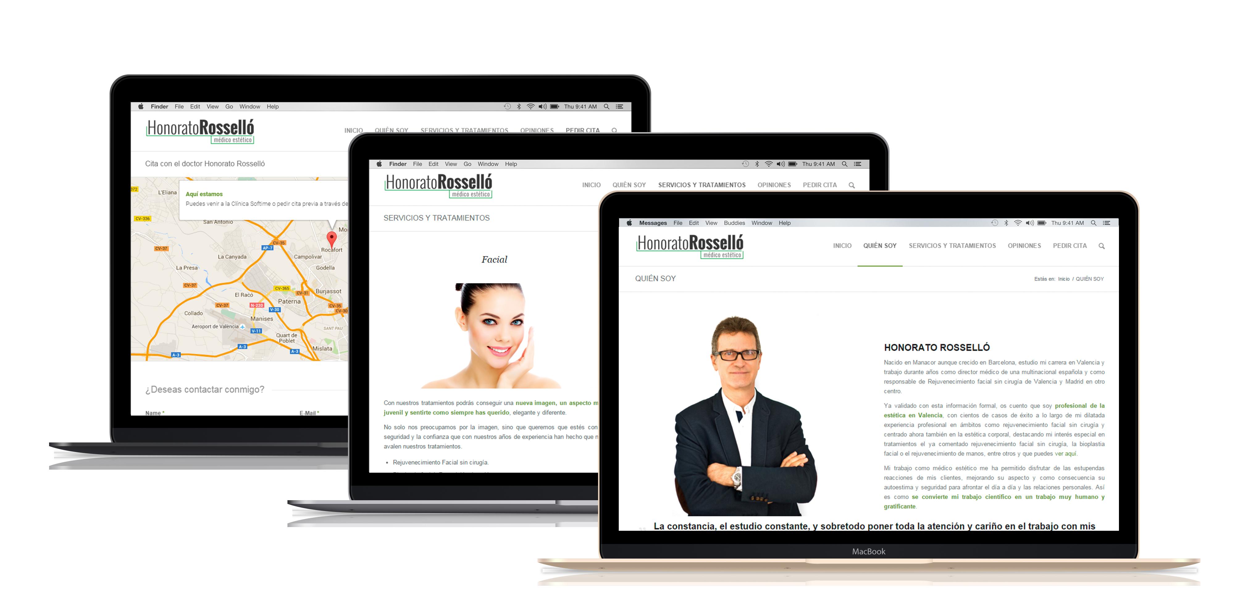 Diseño y Desarrollo Página Web Honorato Rosselló