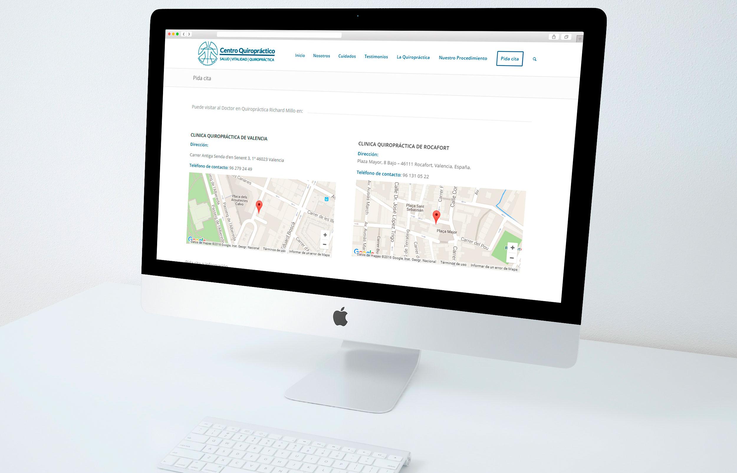 Posicionamiento SEO y Marketing Online Quiropráctico Valencia
