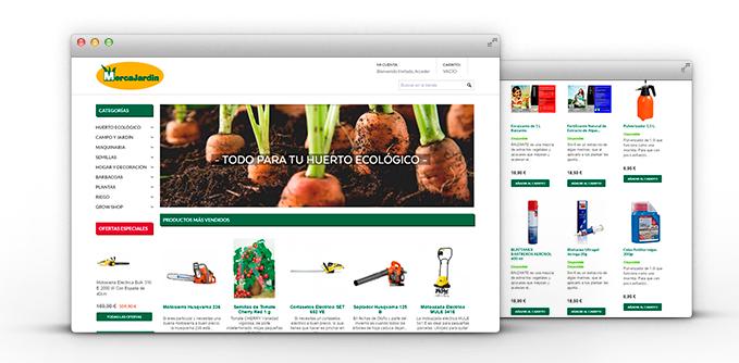 Diseño y Desarrollo Tienda Online MercaJardín